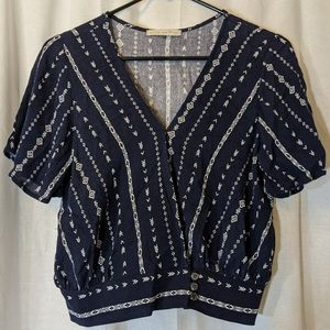3 For $15 Active USA Boho Patterned Blouse Sz S